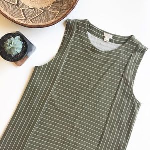 J. Crew olive green striped sweater tank